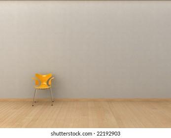 Minimalist interior visualisation.