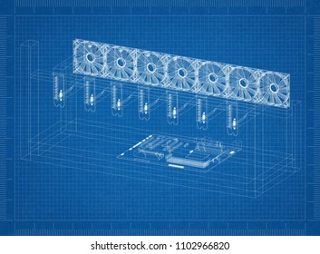 Farm blueprint images stock photos vectors shutterstock mining rig architect blueprint malvernweather Gallery