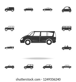 Minivan large car icon. Detailed set of cars icons. Premium graphic design. One of the collection icons for websites, web design, mobile app