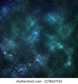 Mint blue galaxy background. Navy blue space pattern
