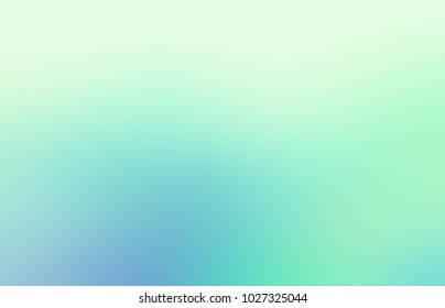 Mint green blue ombre empty background. Fresh air abstract texture. Easy spring blurred illustration
