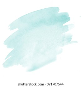 Mint green/Mint green watercolor background