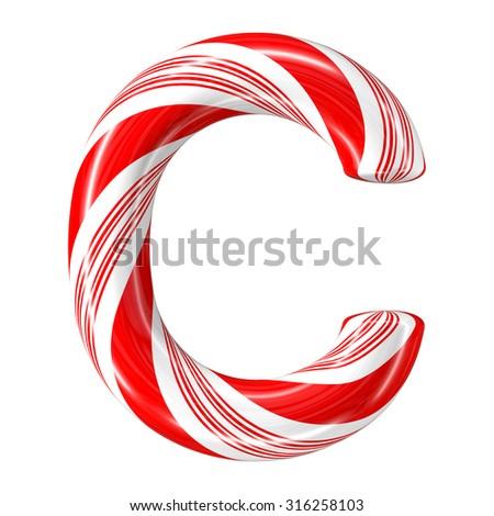 Mint Hard Candy Cane 3 D Alphabet Stock Illustration 316258103 ...