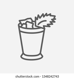 Mint julep icon line symbol. Isolated  illustration of  icon sign concept for your web site mobile app logo UI design.