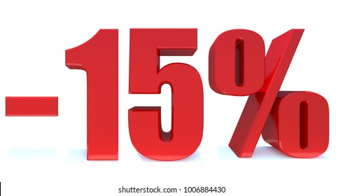 Minus 15 Percent off 3d Sign on White Background, Special Offer 15% Discount Tag, Sale Up to 15 Percent Off,big offer, Sale, Special Offer Label, Sticker, Tag, Banner, Advertising, offer Icon
