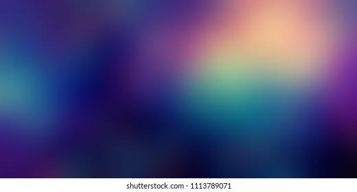 Miracle gleamin purple blue magenta iridescent banner. Dark vibrant empty background. Flicker blurred template. Glare wonderful defocused illustration. Fantastic abstract texture. Fairytale night.
