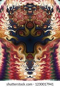 mirorring pattern illustration
