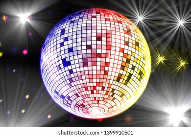 Mirror ball background image material
