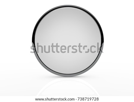 mirror template on white background isolated stock illustration