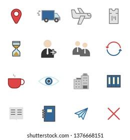 Misc icons set simple flat style illustration.