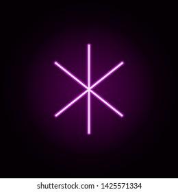 miscellaneous neon icon. Elements of Minimal universal theme set. Simple icon for websites, web design, mobile app, info graphics