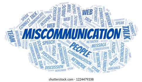 Miscommunication word cloud.