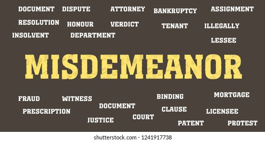 misdemeanor Words and tags cloud