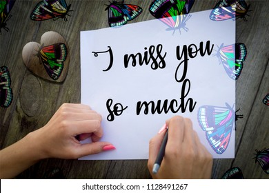i miss you so much card message illustration