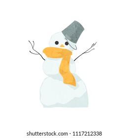 Misshapen snowmen (orange)