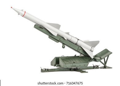 Missile defence system, 3D rendering isolated on  white background