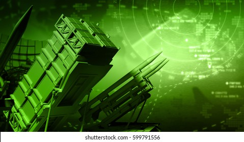 Missile System and Radar - 3D Rendering