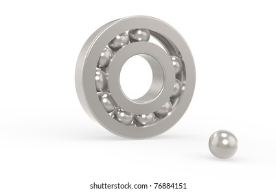 Missing Link. Bearing with missing ball