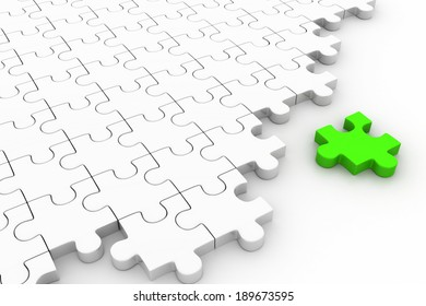 missing puzzle piece. Concept image of unfinished task