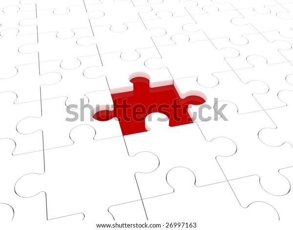 Missing puzzle representing solution, teamwork and success.