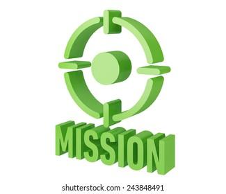 mission 3d icon