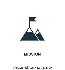 Mission icon. Premium style design from teamwork collection. UX and UI. Pixel perfect mission icon for web design, apps, software, printing usage.