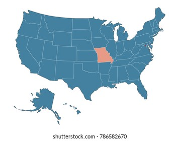Missouri state - Map of USA