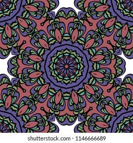mistic floral seamless pattern.   illustration. dark color. for print, fashion design