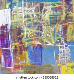 Mixed technics and texture painting on canvas. Abstract art background. Hand-painted. Contemporary art.
