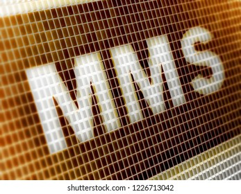 """MMS"" in the screen. 3D Illustration."