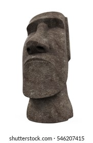 Moai Statue Isolated. 3D rendering