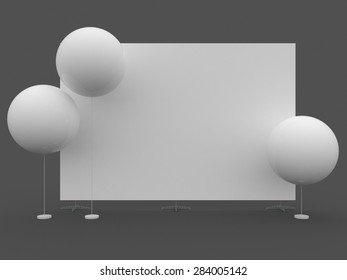 Mobile booth, brand Wall or  Press Wall with white big balloons