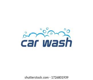 Mobile car wash logo illustration