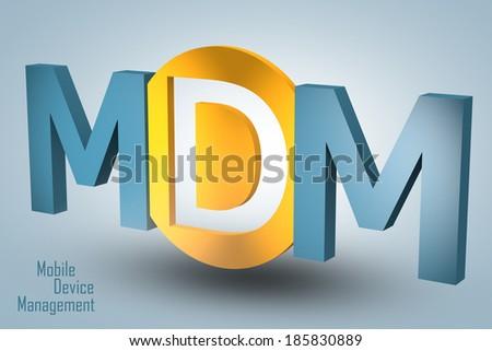 Mobile Device Management Acronym 3 D Render Stock