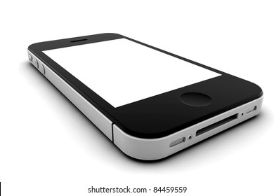 Mobile phone with blank screen for copy space