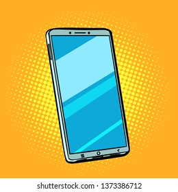Mobile phone smartphone. Pop art retro  illustration comic cartoon kitsch drawing