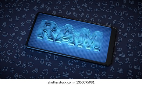 Mobile phones need more RAM to improve perfomance in applications. 3D rendering.