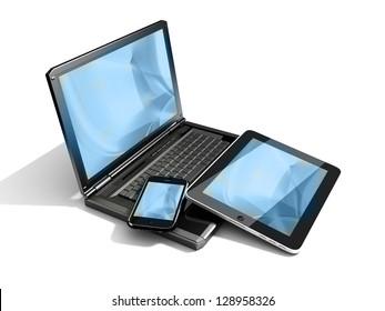 Mobilitätsgeräte - blauer Hintergrund