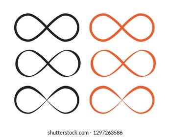 Mobius loop infinity . Loop icon or infinity symbol