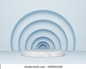 Mock up abstract podium, 3d render, 3d illustration
