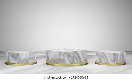 Mock up background/backdrop in minimal illustration design style for product placement/product sale promotion- marble textured background backdrop style design in 3D illustration or 3D rendering