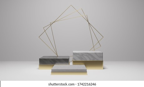 Mock up background/backdrop in minimal illustration design style for product placement/product sale promotion- Minimal product background backdrop style design in 3D illustration or 3D rendering