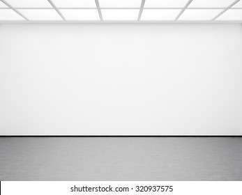 Mock up of blank white  interior. 3d render