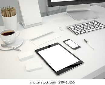 Mock up business template. High resolution.