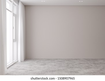 Mock up of empty room apartment. Modern interior design. 3d render image