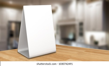 Clear Plastic Acrylic Table Talkers Promotional Stock Illustration - Restaurant table talkers