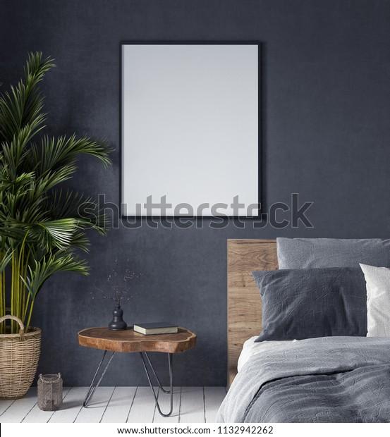 Poster im Schlafzimmer, ethnischer Stil, 3D-Darstellung ...