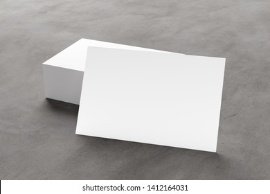 Mock up view of businesscard on a concrete background - 3d rendering