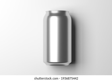 mock up view of a metal can - 3d rendering