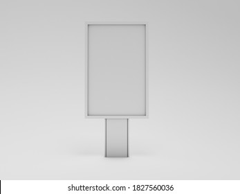mockup 3D blank billboard on white background